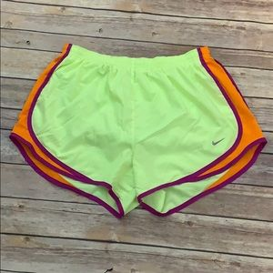 Nike Neon Yellow Athletic Shorts